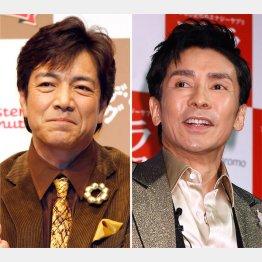 副業が好調の野口五郎(左)と現役バリバリの郷ひろみ/(C)日刊ゲンダイ