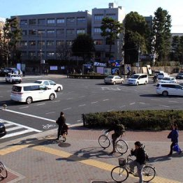 京都大学を望む百万遍交差点