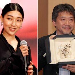 安藤サクラ(左)と是枝裕和監督