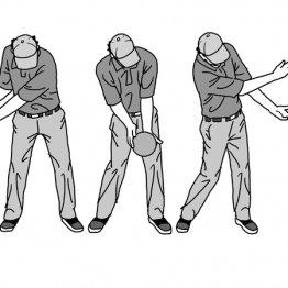 ドローボール極意はフォローにかけて右手が左手を追い越す