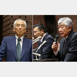 米倉氏(左)が内田前監督を無視する場面も(C)日刊ゲンダイ