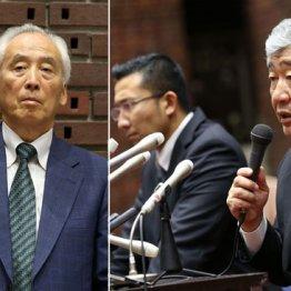 米倉氏(左)が内田前監督を無視する場面も