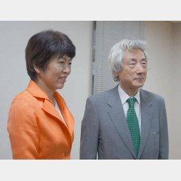 野党5党推薦の池田候補と小泉元首相(C)日刊ゲンダイ