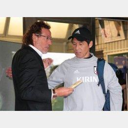 ラモス氏の訪問に西野監督も柔らかい表情に(C)Norio ROKUKAWA/office La Strada
