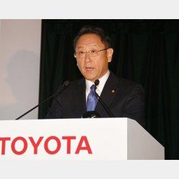 トヨタ自動車の豊田社長(C)日刊ゲンダイ