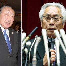 実権を握るのは田中理事長(左)