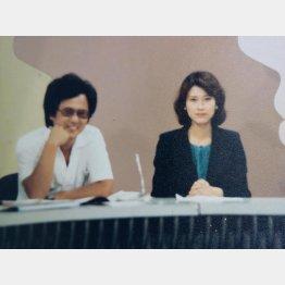 司会の沢田亜矢子と(提供写真)