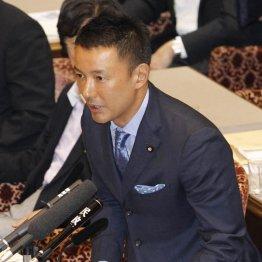 安倍首相を批判した山本太郎議員(C)日刊ゲンダイ