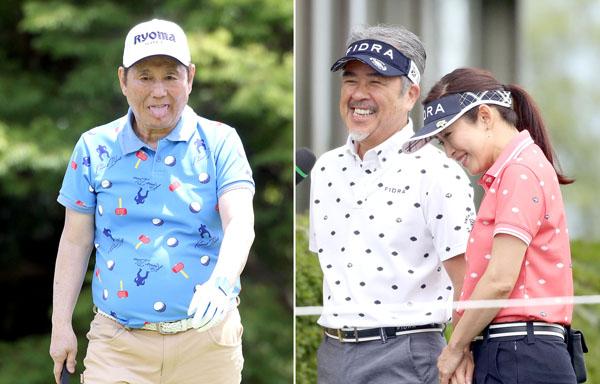 ビートたけし(左)とつまみ枝豆・江口ともみ夫妻(C)日刊ゲンダイ