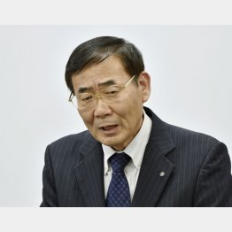 加計学園の渡辺良人事務局長(C)共同通信社