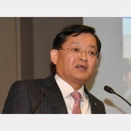 東芝の車谷CEO(C)日刊ゲンダイ