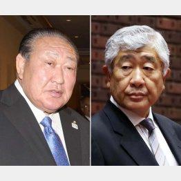 田中理事長と内田前監督(C)日刊ゲンダイ