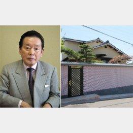 野崎幸助氏(左)と自宅(提供写真)