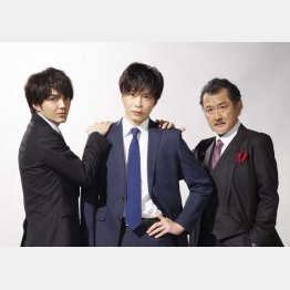 (左から)林遣都、田中圭、吉田鋼太郎(テレビ朝日から)