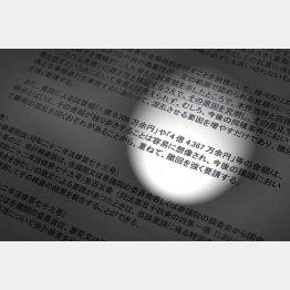 検査院への意見書(C)日刊ゲンダイ
