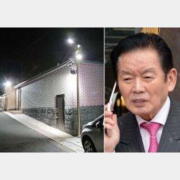 野崎氏の死後も自宅はライトアップされている(左)(提供写真)
