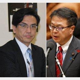詐欺を認めている斉藤被告(左)と回収に積極的ではない世耕経産相(C)日刊ゲンダイ