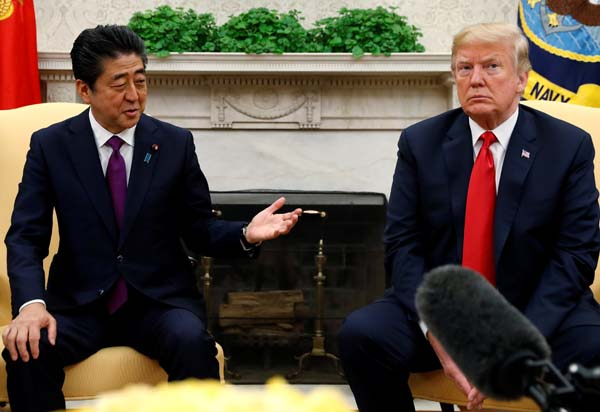 安倍首相とトランプ大統領(C)ロイター