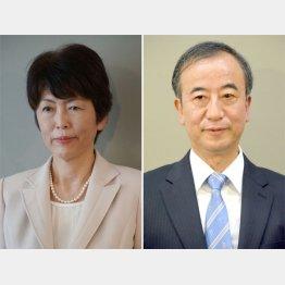 池田千賀子氏(左)と花角英世氏(C)日刊ゲンダイ