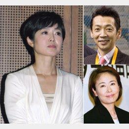 (左から時計回りに)有働由美子、宮根誠司、安藤優子(C)日刊ゲンダイ
