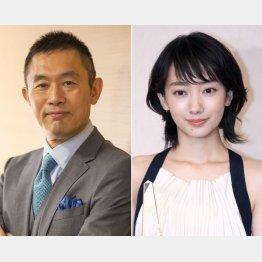 内藤剛志(左)と波瑠(C)日刊ゲンダイ