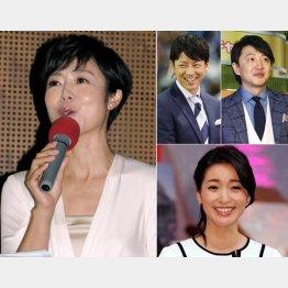 左から有働由美子、富川悠太、青井実、大江麻理子(C)日刊ゲンダイ