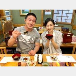 大山峻護さんと妻の桜香純子さん(提供写真)