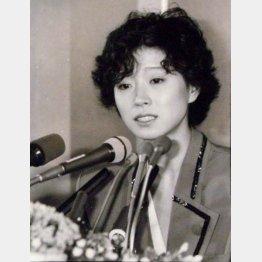 中森明菜(89年撮影)(C)日刊ゲンダイ