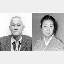 笠智衆と田中絹代(C)共同通信社