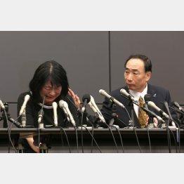 10カ月ぶりに保釈された籠池夫妻は「国策勾留」を訴えた(C)日刊ゲンダイ
