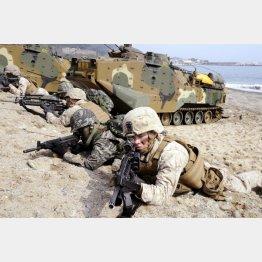 2014年3月に行われた米韓軍事合同演習=韓国・浦項周辺(C)共同通信社