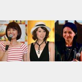 左から中村仁美、雛形あきこ、misono(C)日刊ゲンダイ