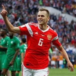 途中出場で2得点したロシアMFチェリシェフ