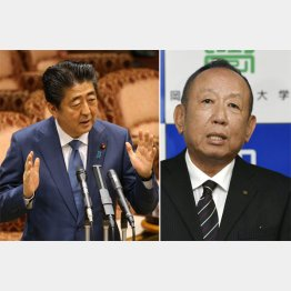 安倍首相と加計理事長(C)共同通信社