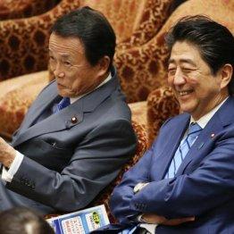 麻生財務相(左)と安倍首相