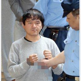 送検される大西容疑者(C)日刊ゲンダイ