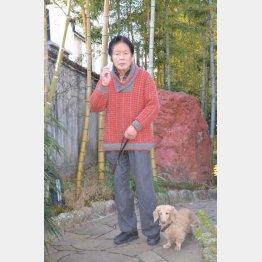 野崎幸助氏と愛犬のイブ(提供写真)