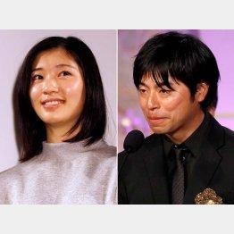 石井裕也監督(右)と結婚した相楽樹はすでに妊娠(C)日刊ゲンダイ