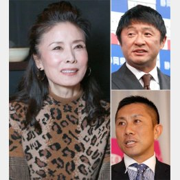 左から時計回りで小柳ルミ子、武田修宏、前園真聖(C)日刊ゲンダイ