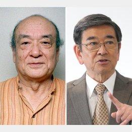 石坂浩二(右)と鈴木瑞穂(C)共同通信社