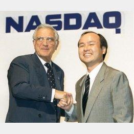 NASDのザーブ会長(当時)と孫氏(C)共同通信社