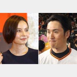 ベッキーと片岡コーチ(C)日刊ゲンダイ