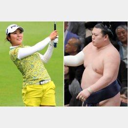 勢(右)がゾッコンの比嘉真美子(C)日刊ゲンダイ