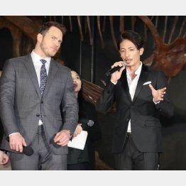 主演のクリス・プラット(左)と(C)日刊ゲンダイ