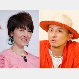 荻野目洋子(左)とDA PUMPのISSA(C)日刊ゲンダイ
