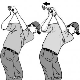 大型ヘッドを使いこなすコツはインサイドから振り下ろす