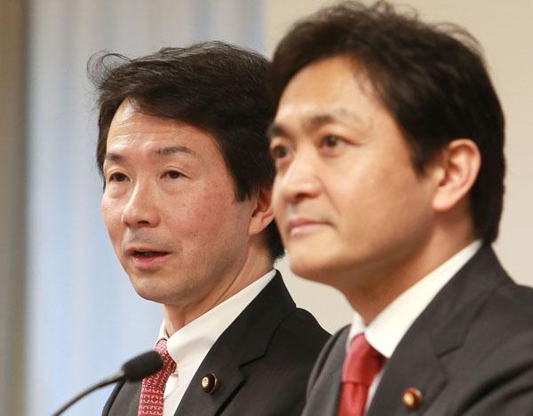 「ゆ党」になるのか(大塚・玉木の両共同代表)(C)日刊ゲンダイ