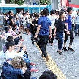 ベルギー戦敗退直後の渋谷駅前
