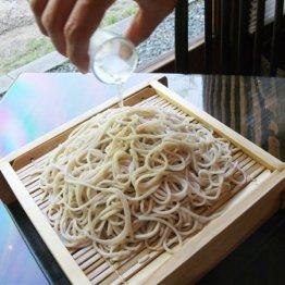 神戸酒心館さかばやし(石屋川)日本酒をかけて味わう盛りそば