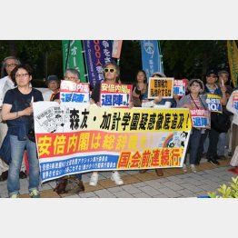 安倍政権に抗議するデモが大半(C)日刊ゲンダイ